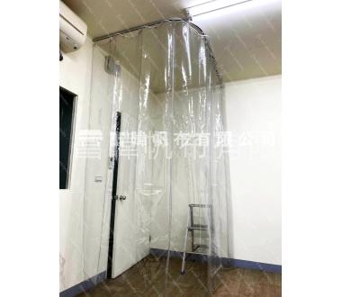 透明隔簾 - 直軌滑輪