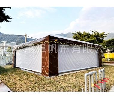 6m*6m宮廷帳+垂直雨棚