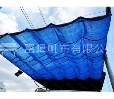 可收式遮陽網-單色
