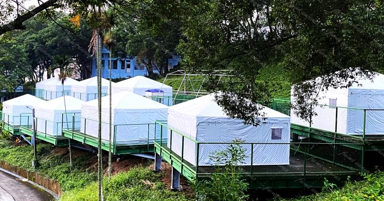 露營區帳篷